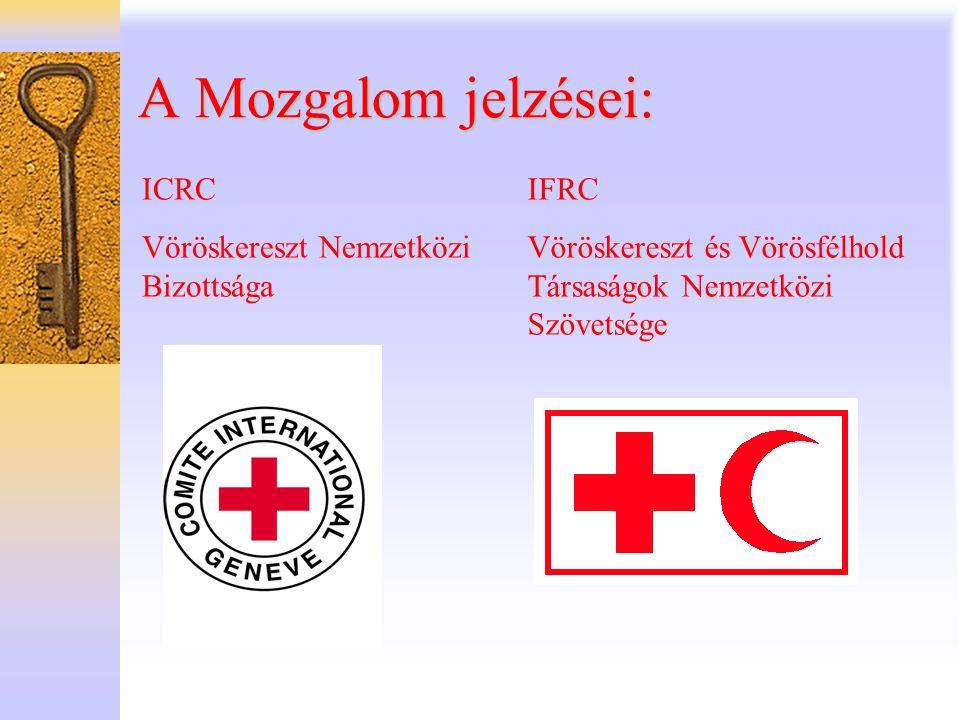 A Mozgalom jelzései: ICRC Vöröskereszt Nemzetközi Bizottsága IFRC