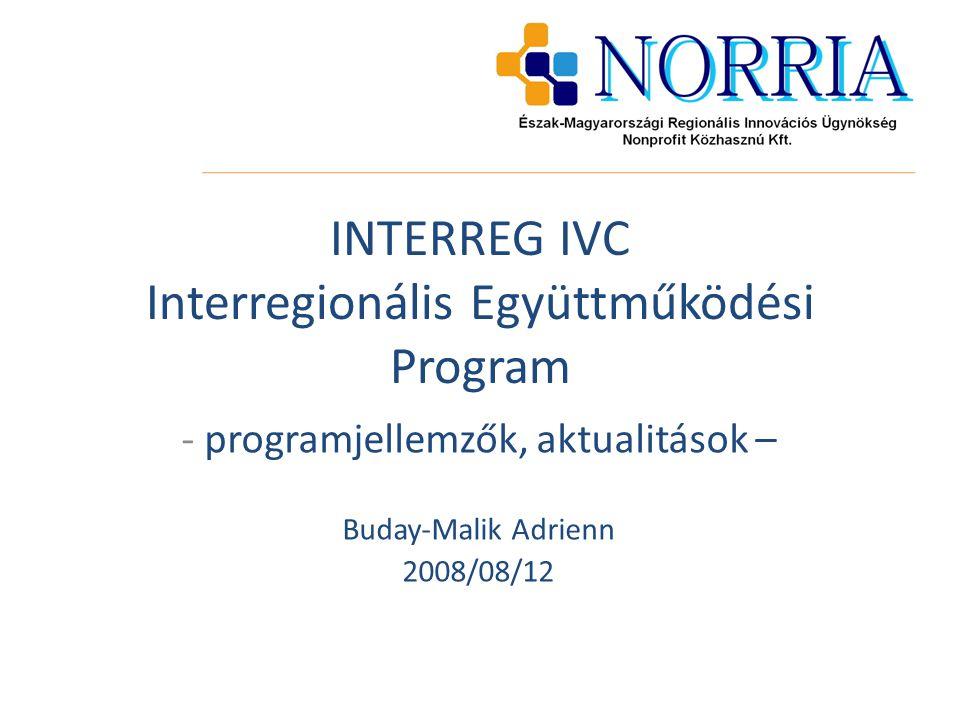 INTERREG IVC Interregionális Együttműködési Program