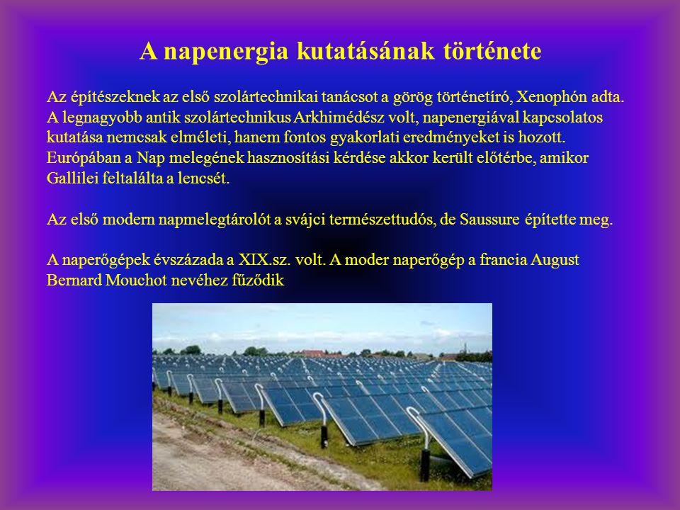 A napenergia kutatásának története