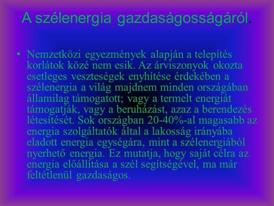 A szélenergia gazdaságosságáról.