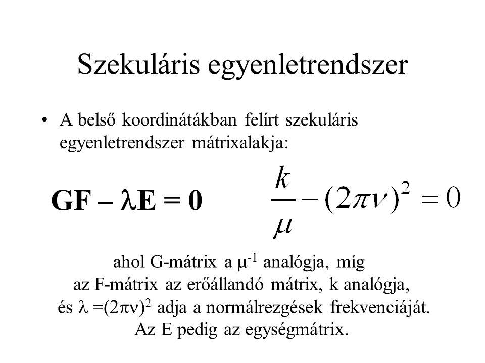 Szekuláris egyenletrendszer