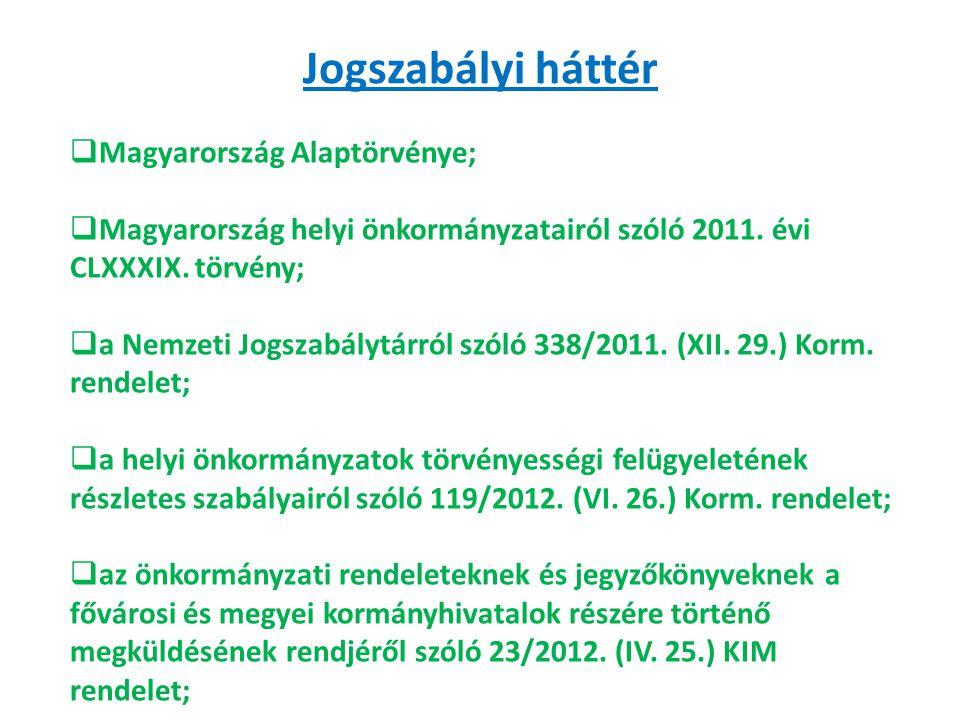 Jogszabályi háttér Magyarország Alaptörvénye;