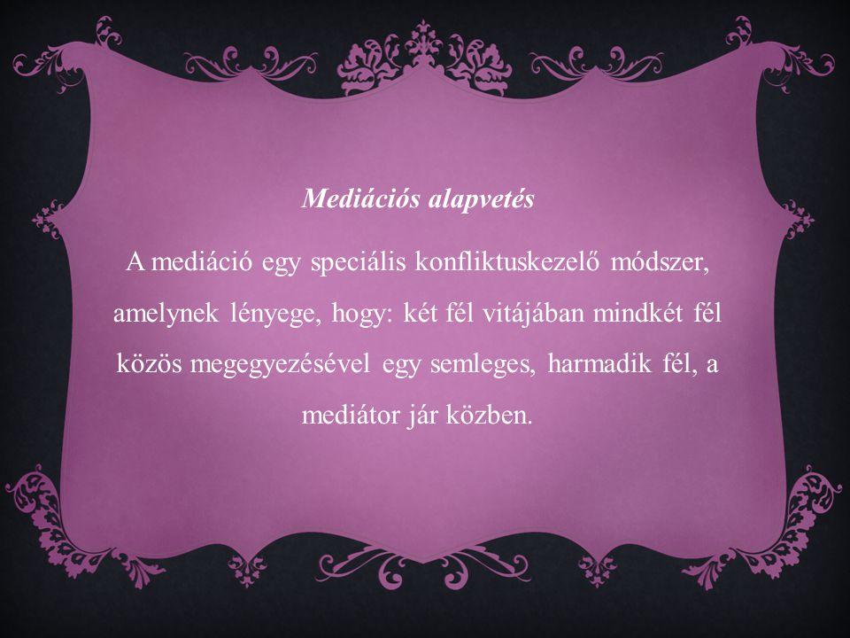 Mediációs alapvetés