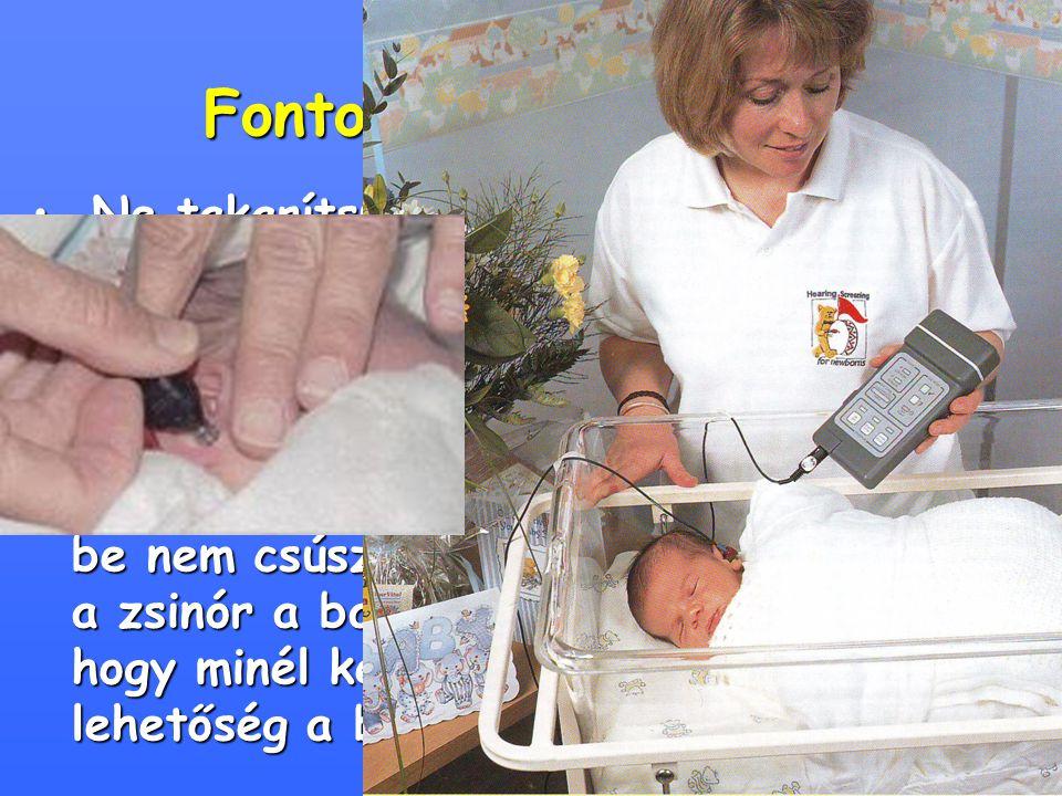 """Fontos """"apróságok I. Ne takarítsuk a baba fülét, maximum egy óvatos törlés megengedett a hallójárat bemenetében."""