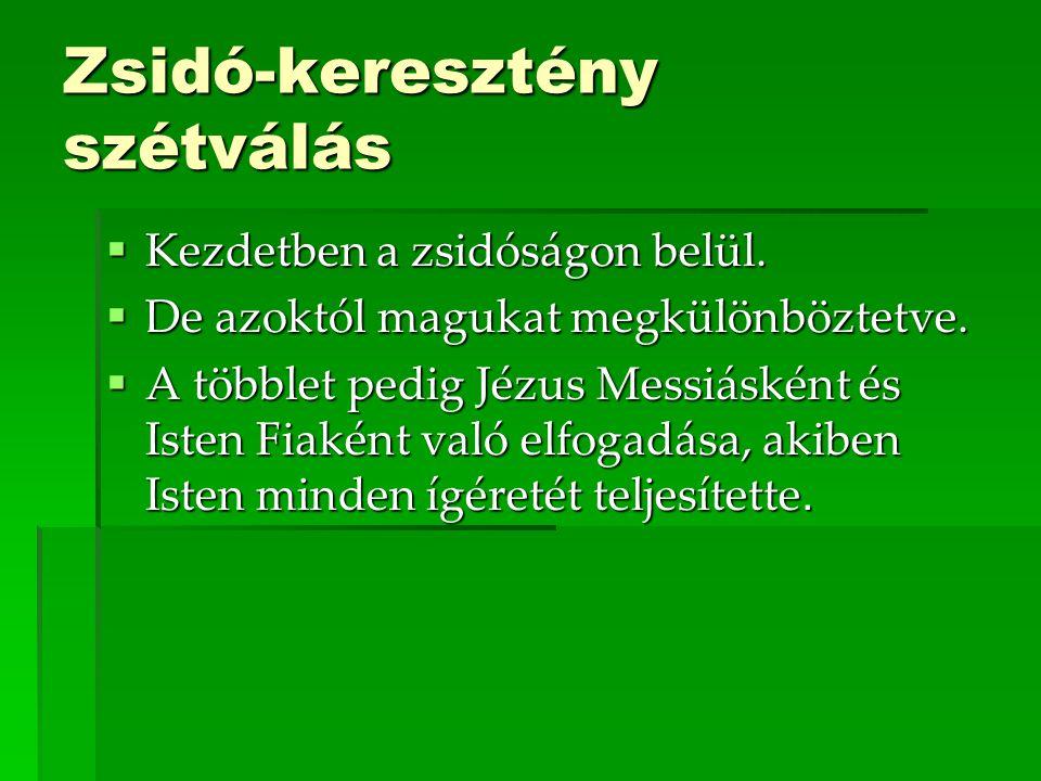 Zsidó-keresztény szétválás