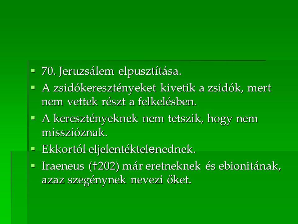 70. Jeruzsálem elpusztítása.