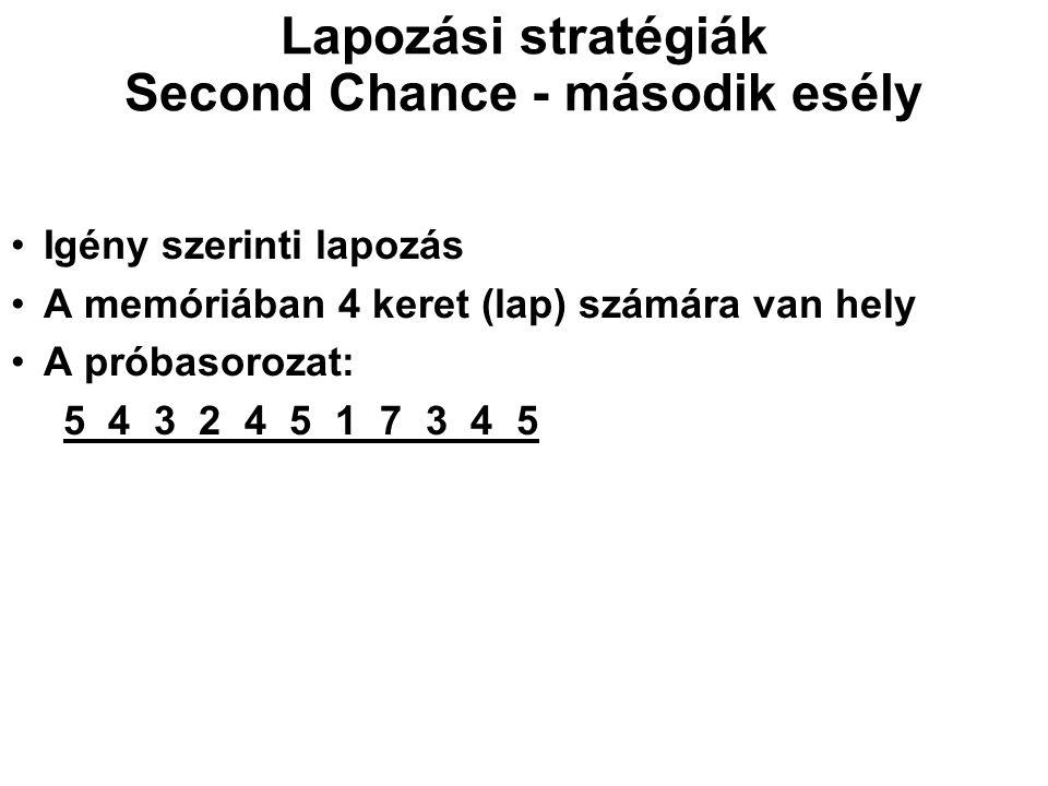 Lapozási stratégiák Second Chance - második esély