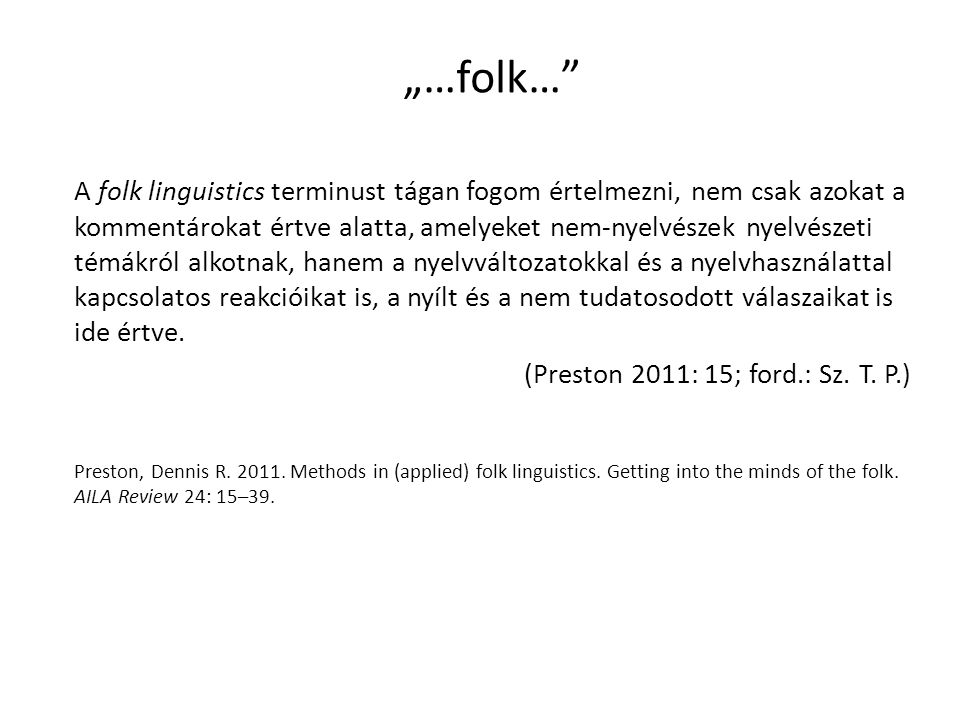"""…folk…"