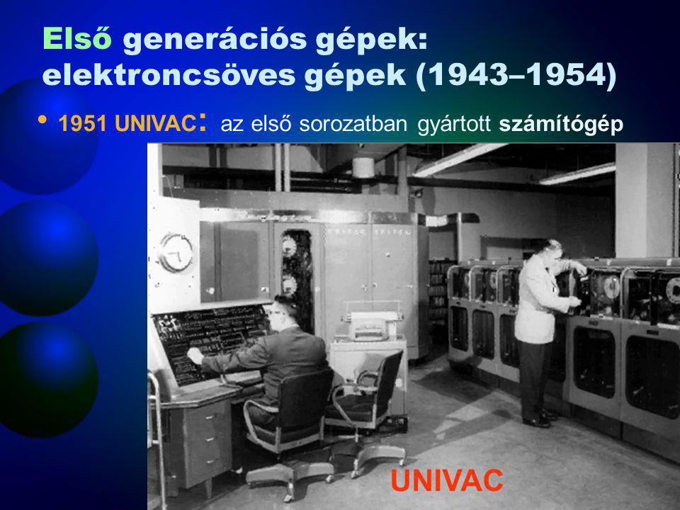 1951 UNIVAC: az első sorozatban gyártott számítógép