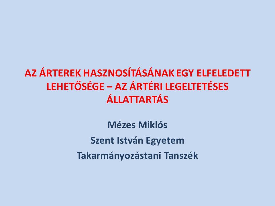 Mézes Miklós Szent István Egyetem Takarmányozástani Tanszék