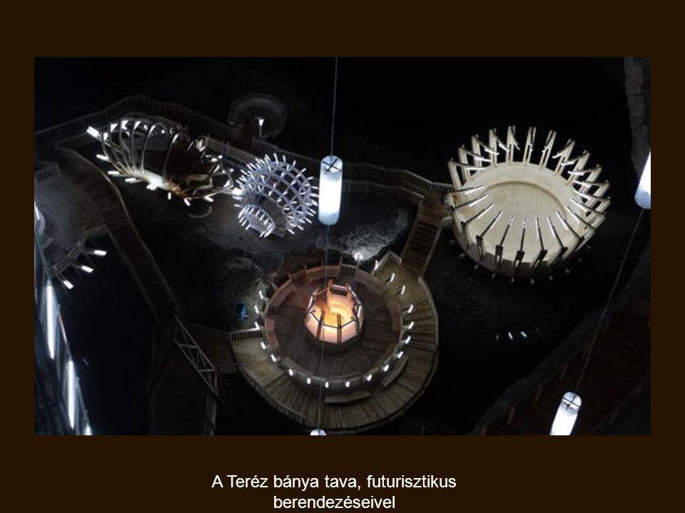 A Teréz bánya tava, futurisztikus berendezéseivel
