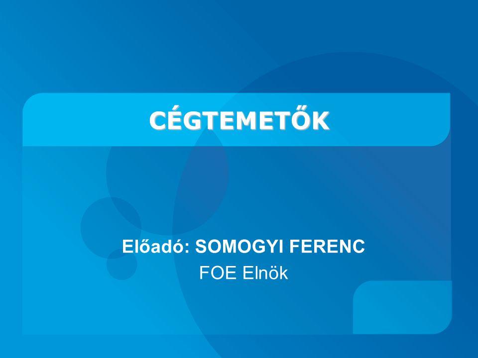 Előadó: SOMOGYI FERENC FOE Elnök