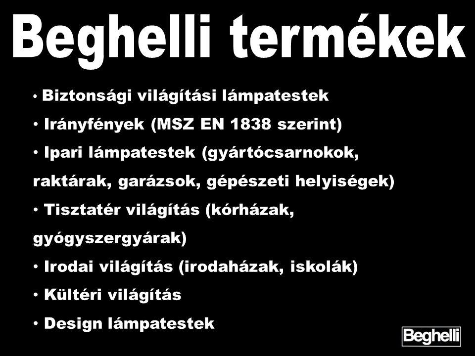 Beghelli termékek Irányfények (MSZ EN 1838 szerint)