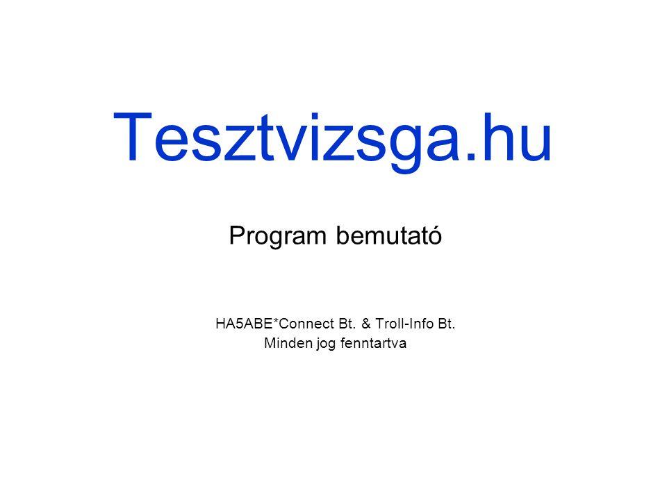 HA5ABE*Connect Bt. & Troll-Info Bt. Minden jog fenntartva