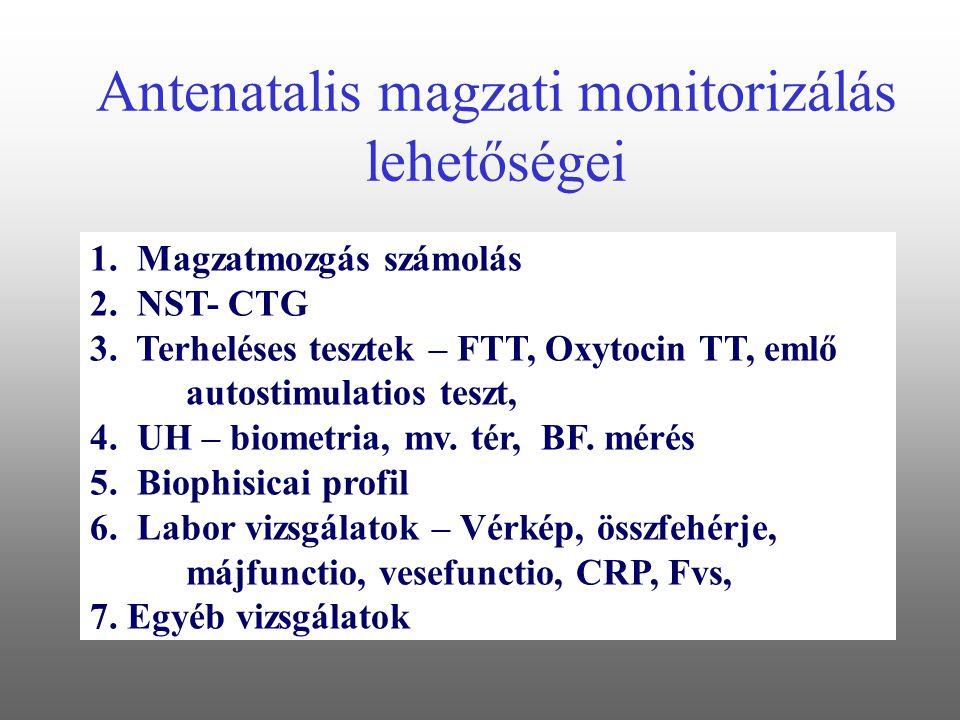 Antenatalis magzati monitorizálás lehetőségei