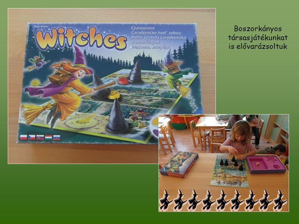 Boszorkányos társasjátékunkat is elővarázsoltuk