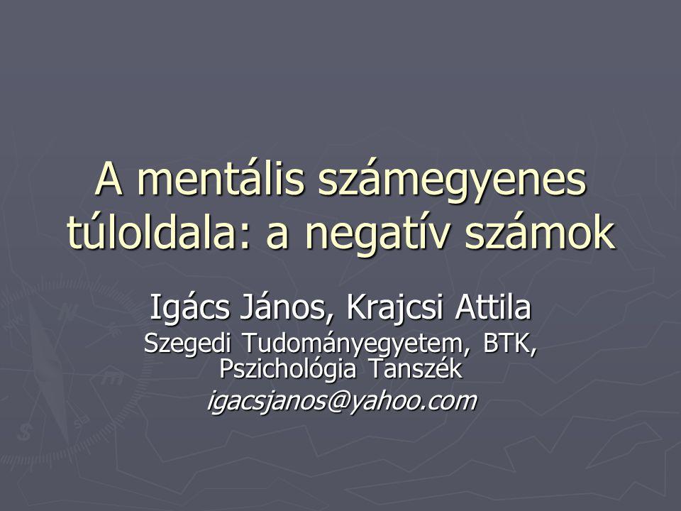 A mentális számegyenes túloldala: a negatív számok