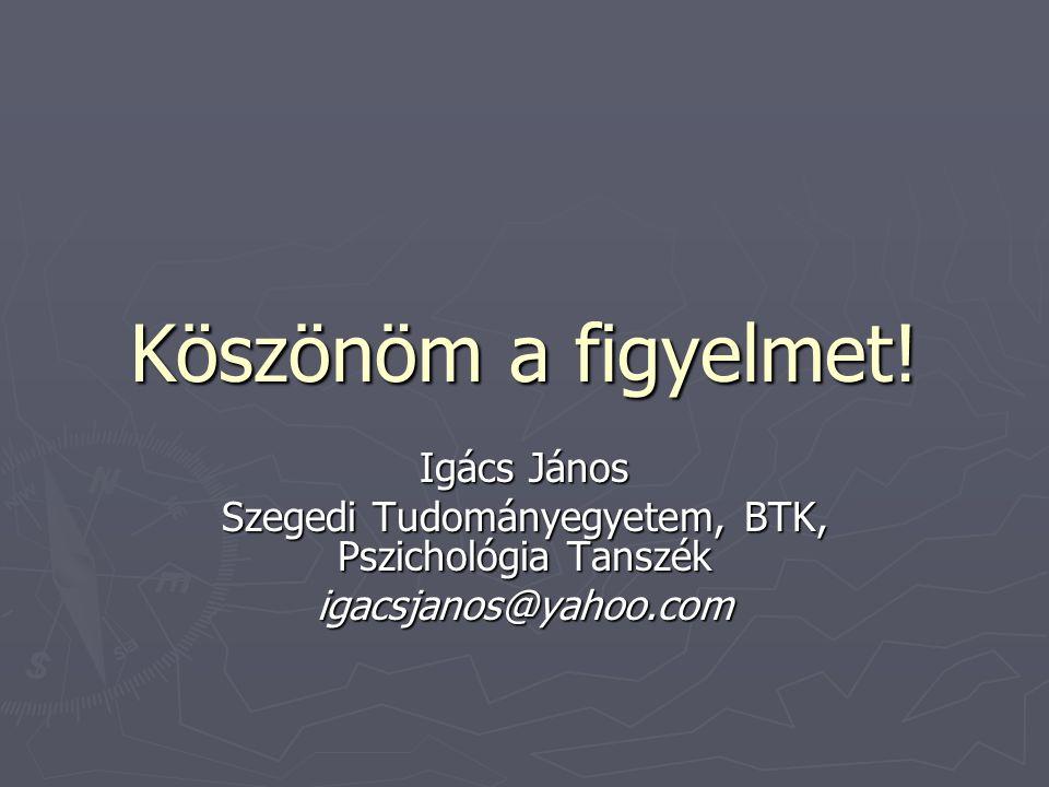 Szegedi Tudományegyetem, BTK, Pszichológia Tanszék