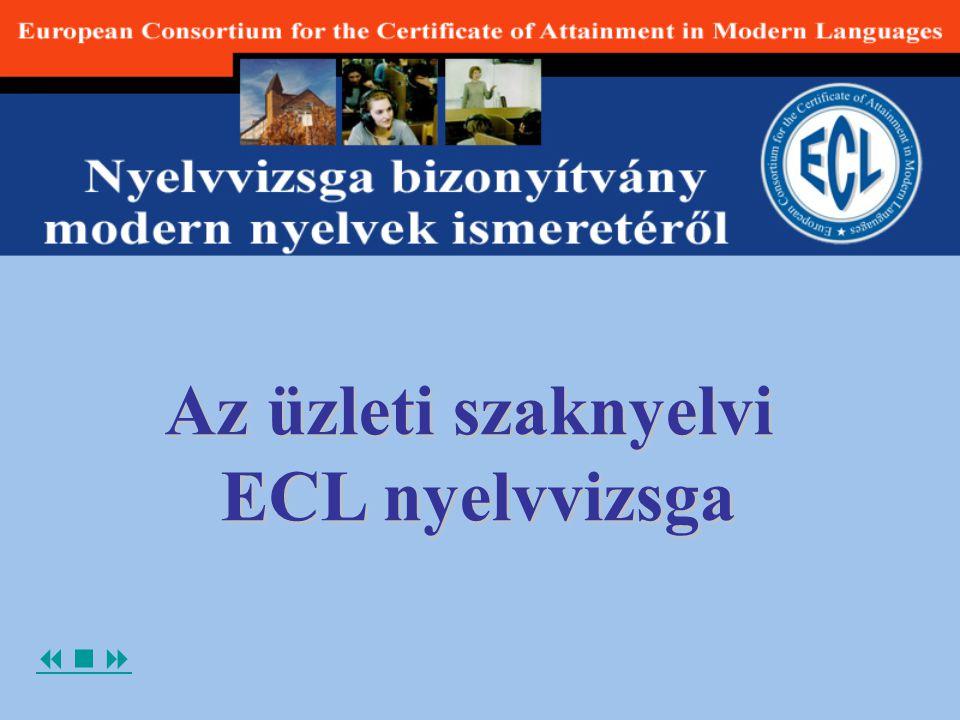 Az üzleti szaknyelvi ECL nyelvvizsga