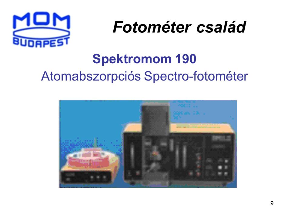 Spektromom 190 Atomabszorpciós Spectro-fotométer