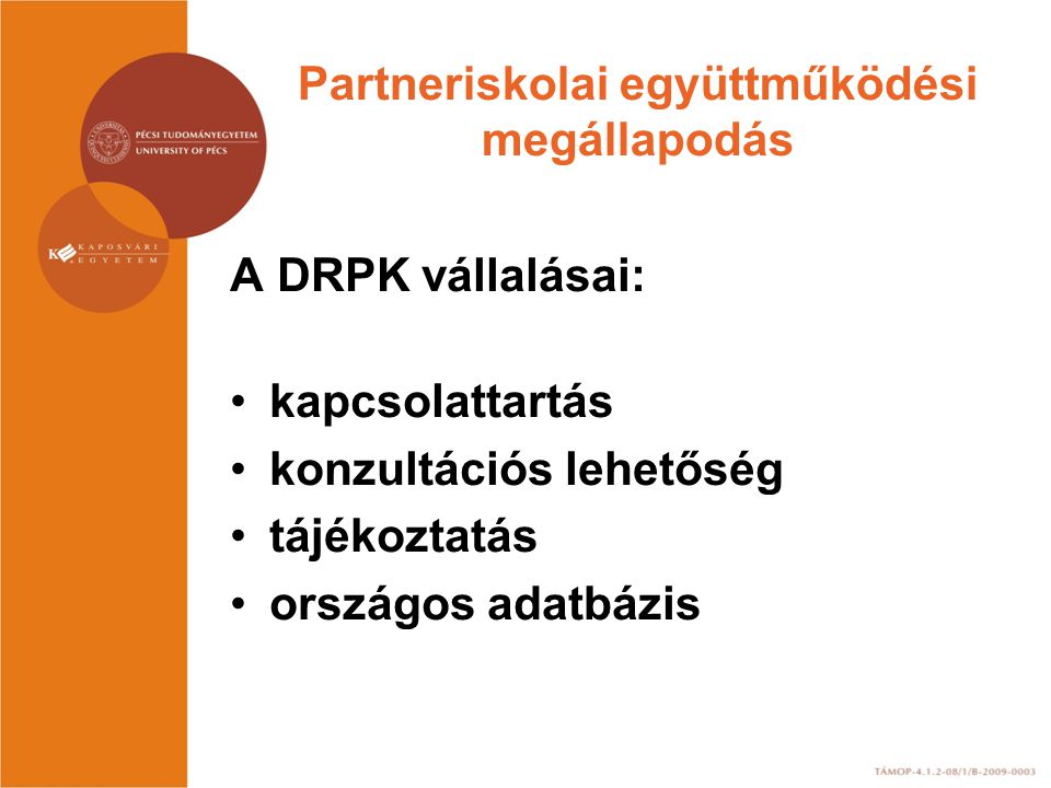 Partneriskolai együttműködési megállapodás