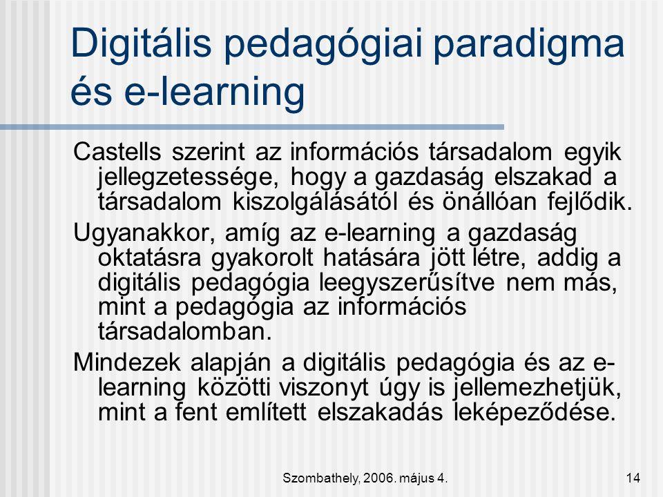 Digitális pedagógiai paradigma és e-learning