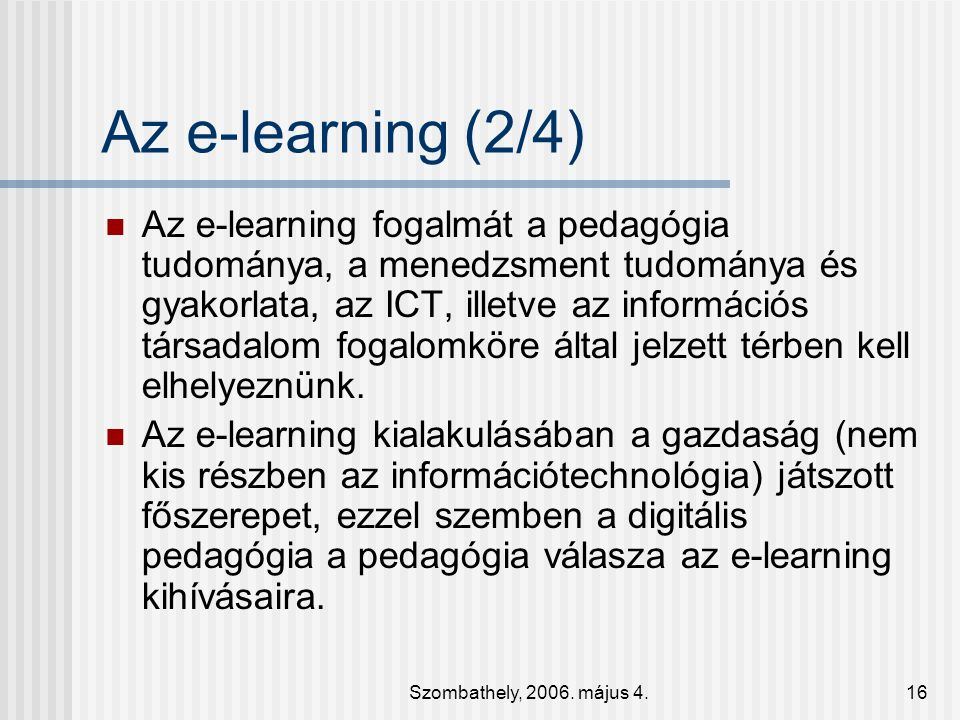 Az e-learning (2/4)