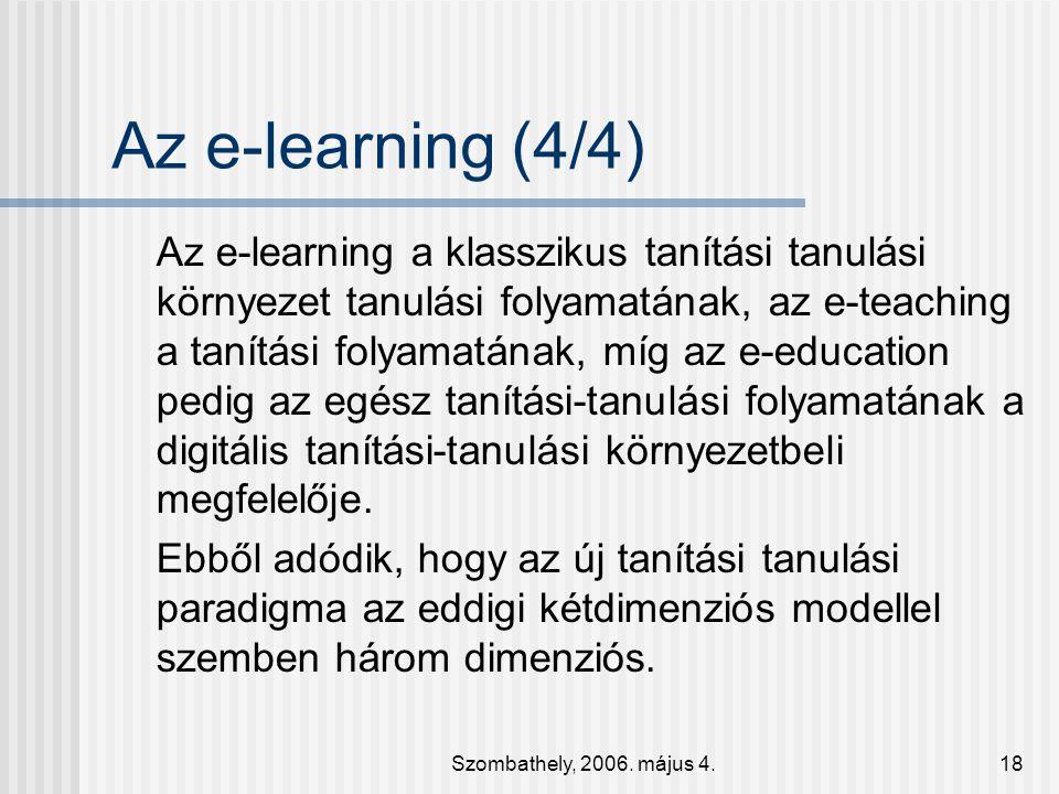 Az e-learning (4/4)
