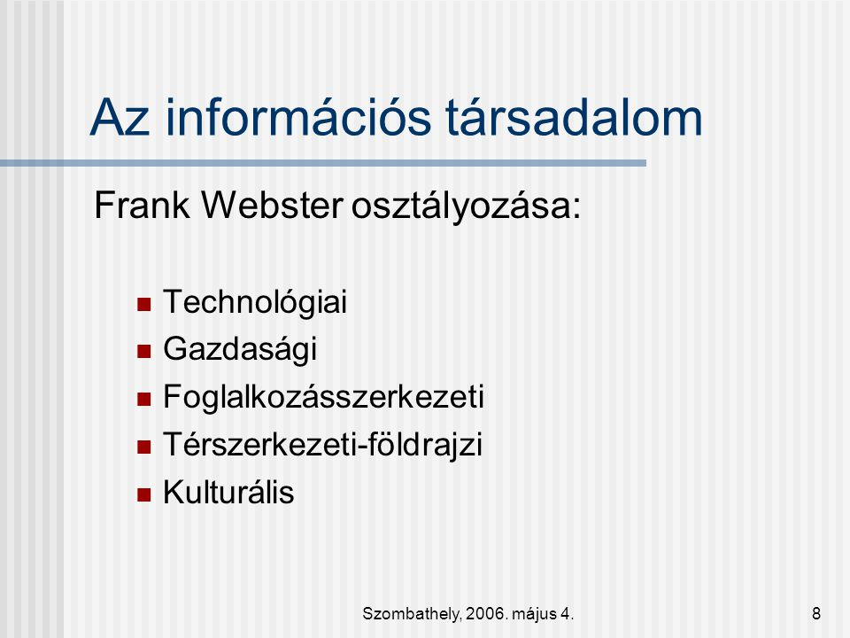 Az információs társadalom