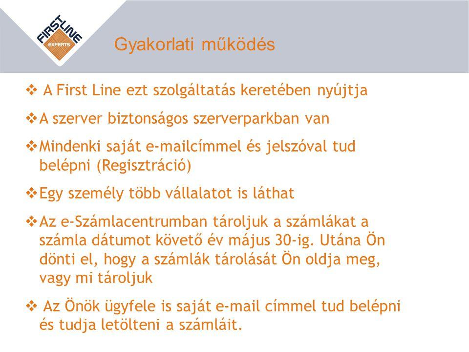 Gyakorlati működés A First Line ezt szolgáltatás keretében nyújtja