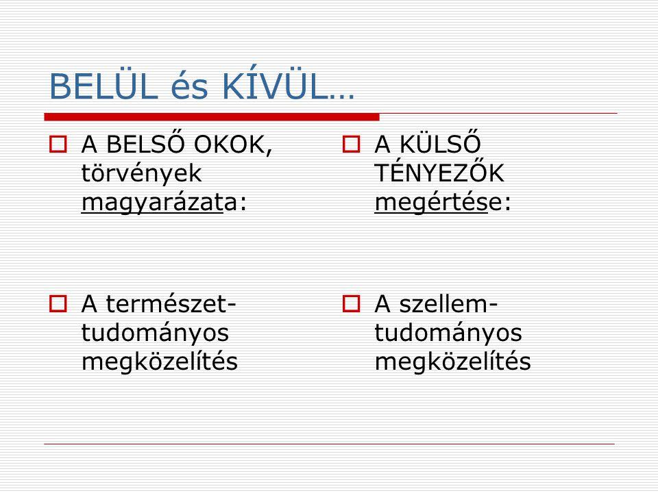 BELÜL és KÍVÜL… A BELSŐ OKOK, törvények magyarázata: