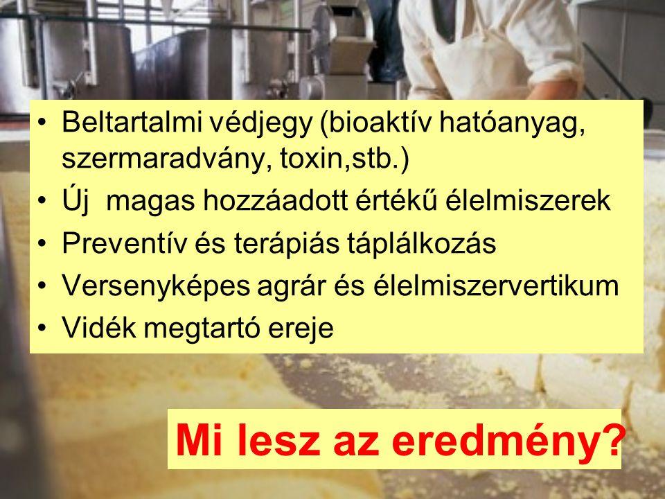 Beltartalmi védjegy (bioaktív hatóanyag, szermaradvány, toxin,stb.)