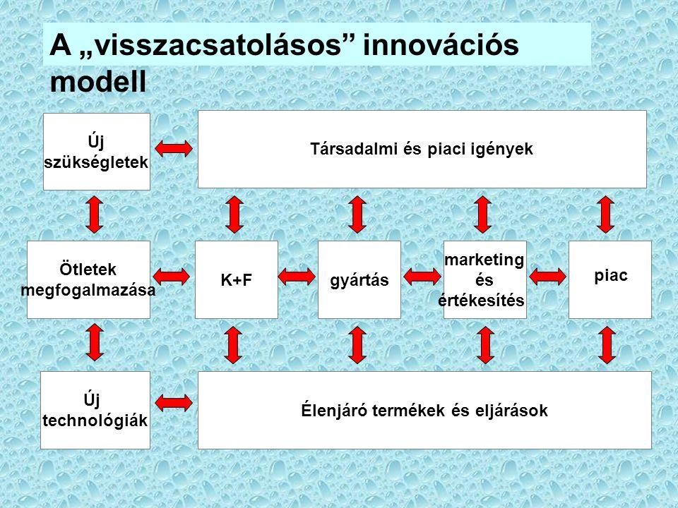 Társadalmi és piaci igények Élenjáró termékek és eljárások