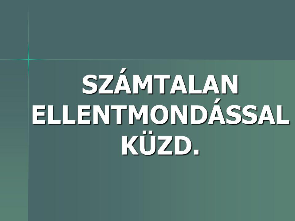 SZÁMTALAN ELLENTMONDÁSSAL KÜZD.