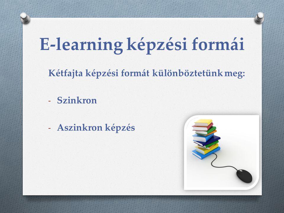 E-learning képzési formái