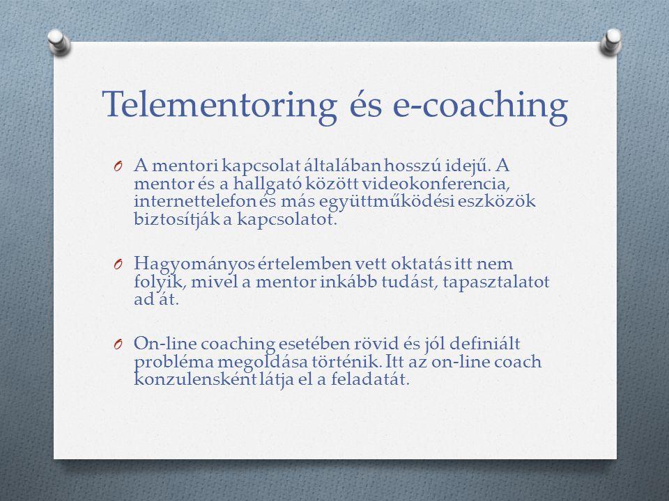 Telementoring és e-coaching