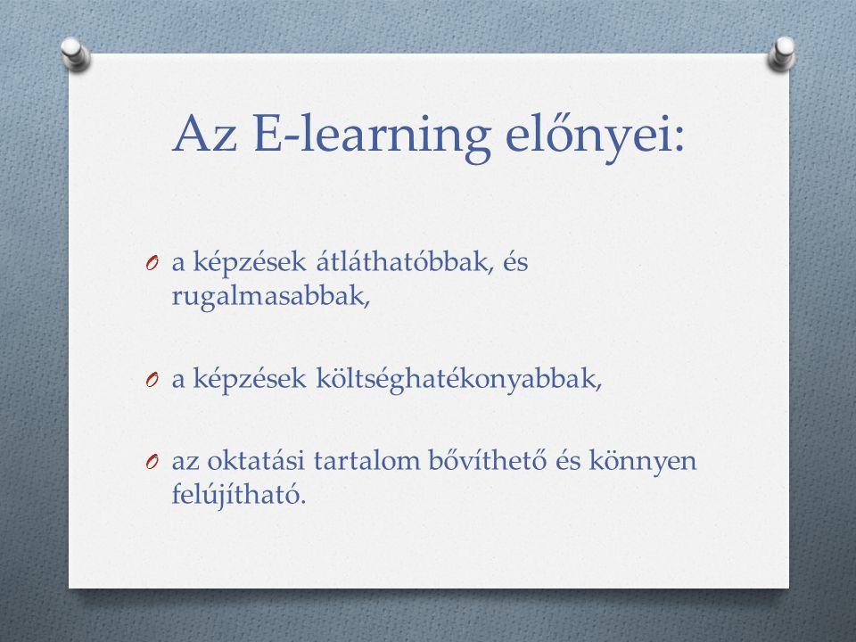 Az E-learning előnyei: