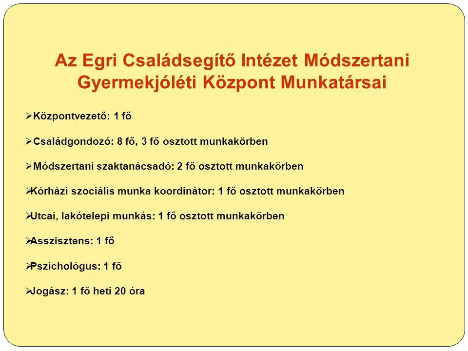 Az Egri Családsegítő Intézet Módszertani