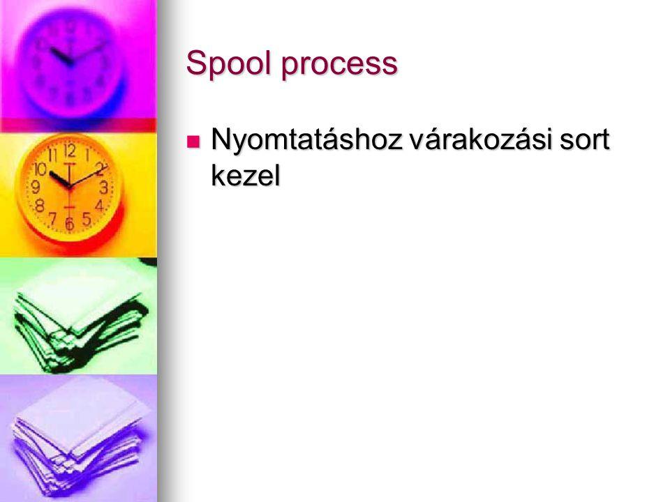 Spool process Nyomtatáshoz várakozási sort kezel