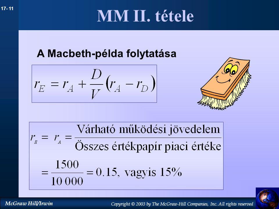 MM II. tétele A Macbeth-példa folytatása