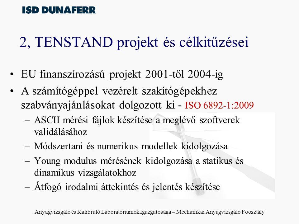 2, TENSTAND projekt és célkitűzései