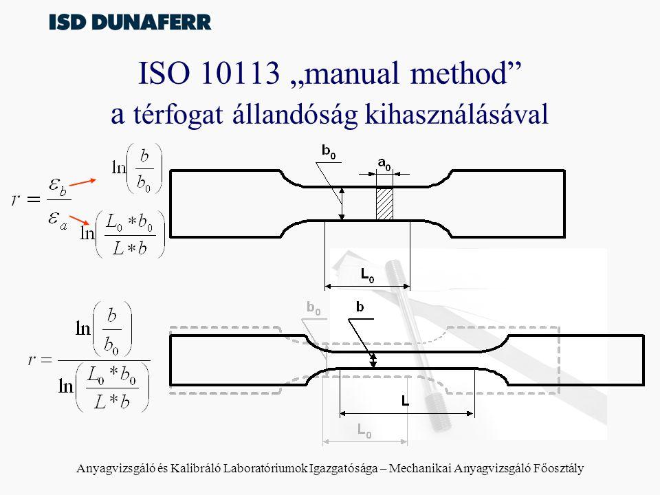 """ISO 10113 """"manual method a térfogat állandóság kihasználásával"""