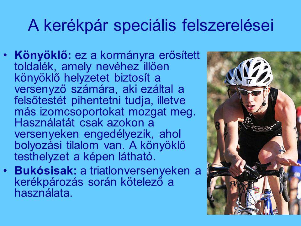 A kerékpár speciális felszerelései