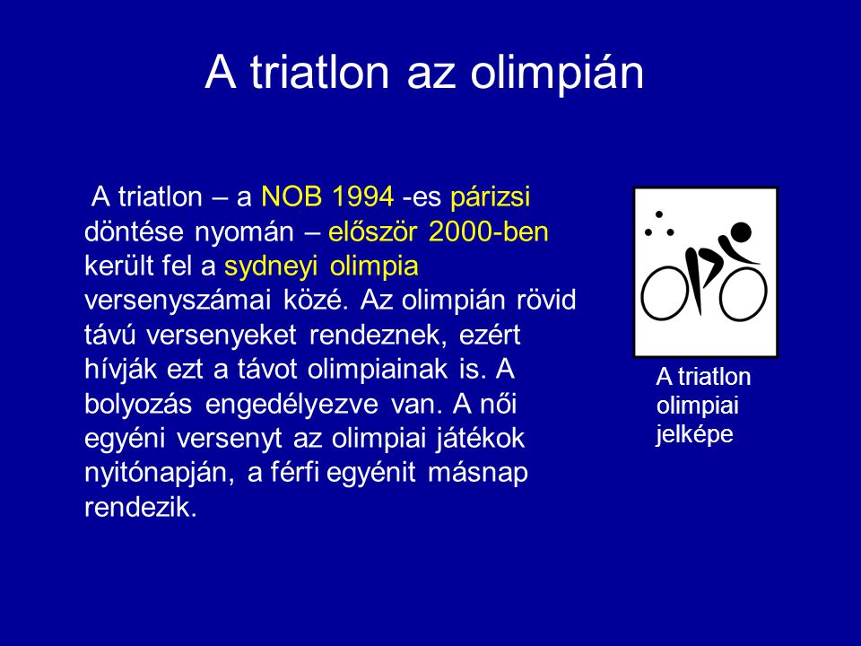 A triatlon az olimpián