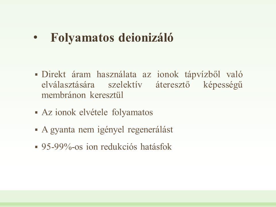 Folyamatos deionizáló
