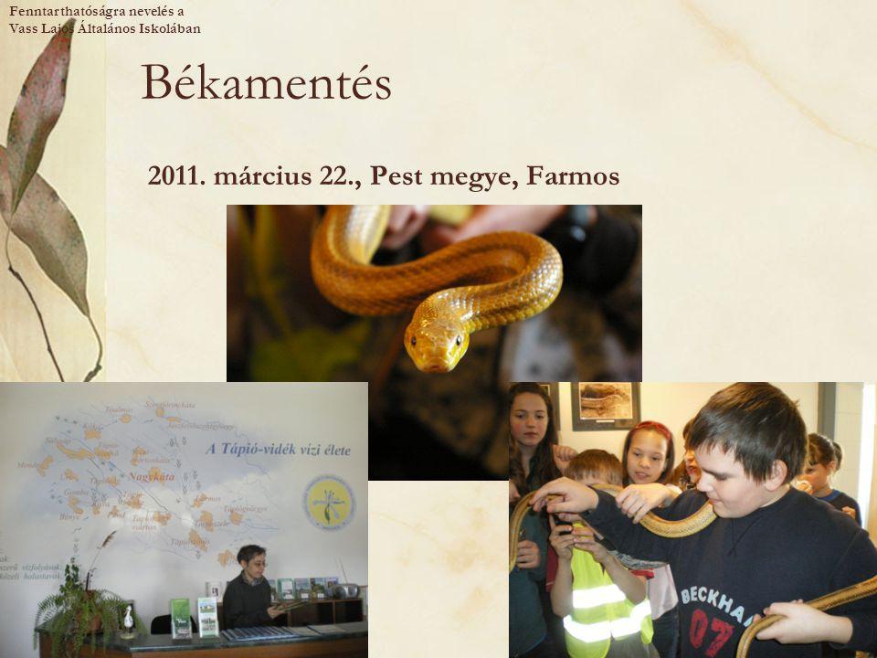 Békamentés 2011. március 22., Pest megye, Farmos