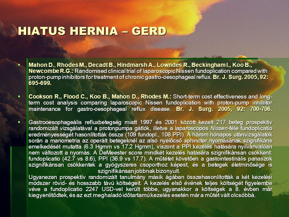 HIATUS HERNIA – GERD
