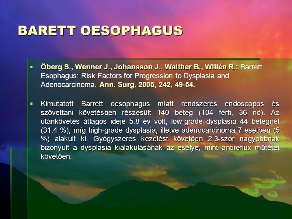 BARETT OESOPHAGUS