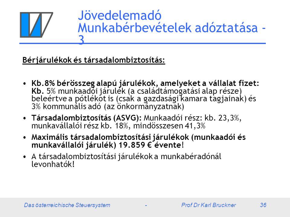 Jövedelemadó Munkabérbevételek adóztatása - 3