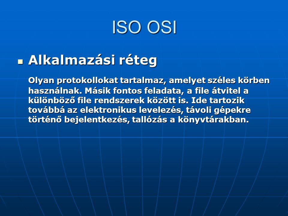 ISO OSI Alkalmazási réteg